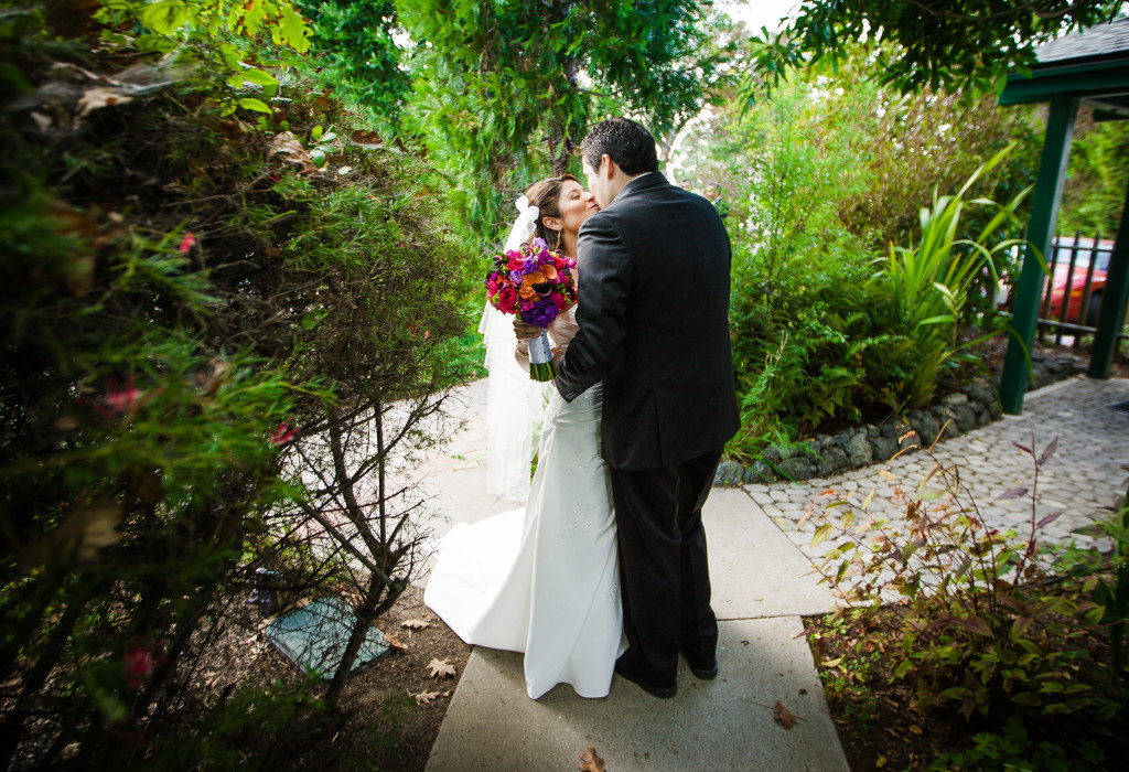A garden wedding at Cambria Pines Lodge