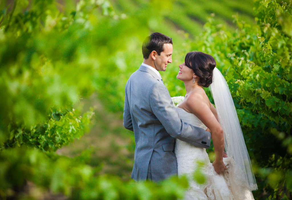 Wedding portraits in the vineyard