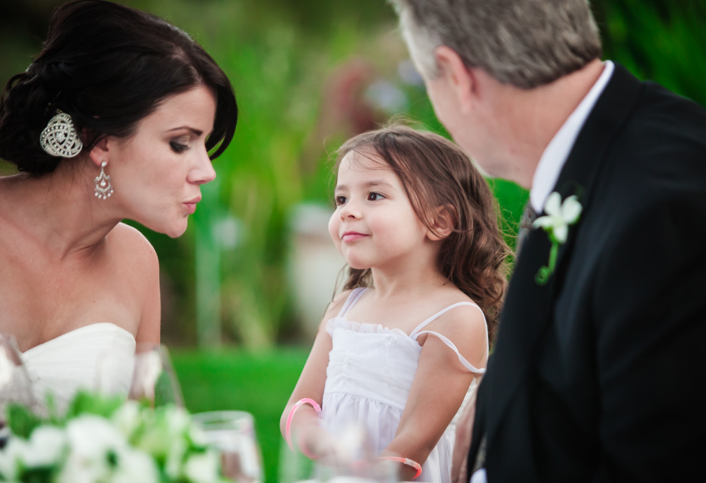 Bride and a young guest