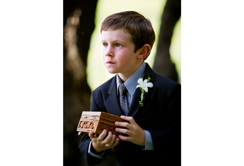 Ring bearer at the ceremony