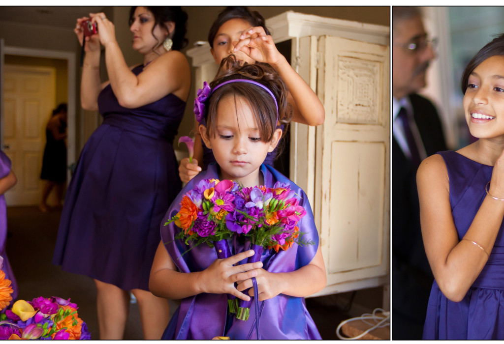 Flower girl at Cambria Pines Lodge wedding