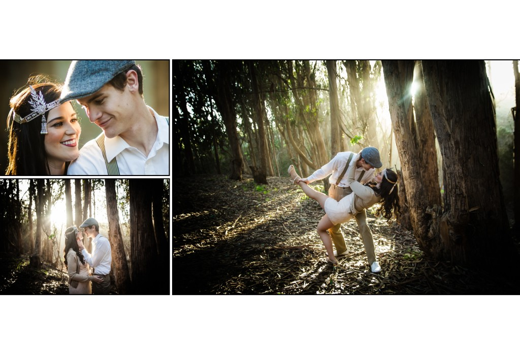 Outdoor portraits of bride and groom