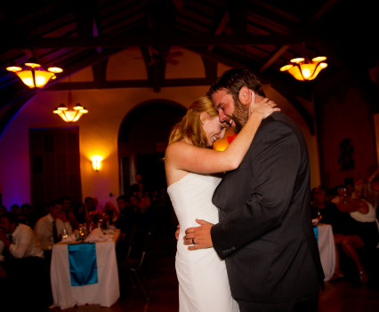 Bride and groom have a first dance